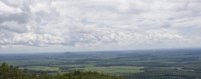 Vogelperspektive eines kanadischen Vororts Stockfotos