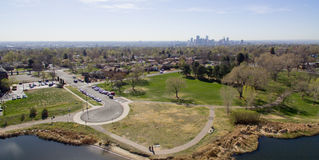 Vogelperspektive eines Parks in Denver Colorado Lizenzfreie Stockfotografie