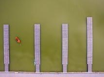 Vogelperspektive eines Piers Lizenzfreie Stockbilder