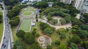 Vogelperspektive eines Quadrats von São Paulo Lizenzfreie Stockfotografie