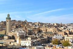 Vogelperspektive in Fes, Marokko Stockfotos
