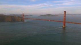Vogelperspektive Golden gate bridges in San Francisco USA Tageslicht stock footage