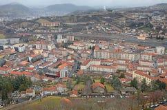 Vogelperspektive Le Puy en Valay, Frankreich Lizenzfreies Stockfoto