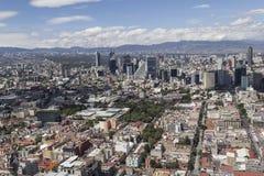 Vogelperspektive Mexiko- Cityfinanzbezirk reforma Stockfoto