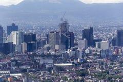 Vogelperspektive Mexiko- Cityfinanzbezirkes Lizenzfreie Stockfotografie