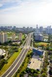 Vogelperspektive in Miami Stockbild