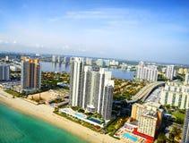 Vogelperspektive in Miami Lizenzfreie Stockbilder