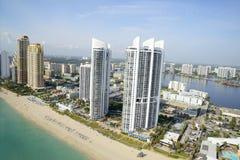 Vogelperspektive in Miami Lizenzfreie Stockfotografie