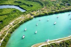 Vogelperspektive in Miami Stockfotos