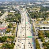 Vogelperspektive in Miami Stockfoto