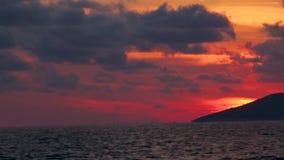 Vogelperspektive-Mittelmeer-Antalya-Strand stock video footage