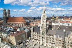 Vogelperspektive München Stockfotografie