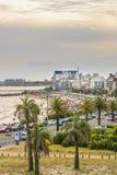 Vogelperspektive-Montevideo-Strand, Uruguay stockfotos