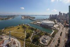 Vogelperspektive-Museums-Park im Stadtzentrum gelegenes Miami Stockbild