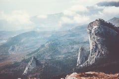 Vogelperspektive Rocky Mountains Landscape Travel Stockfoto