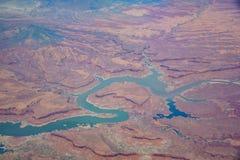 Vogelperspektive schönen Glen Canyon National Recreation Ares stockfoto