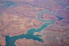 Vogelperspektive schönen Glen Canyon National Recreation Ares lizenzfreies stockbild