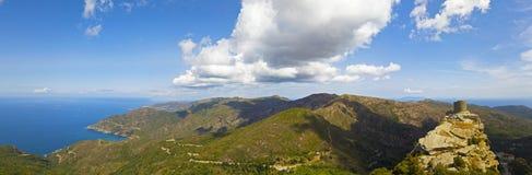 Vogelperspektive Seneca Towers, Korsika, Frankreich Lizenzfreies Stockbild