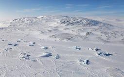 Vogelperspektive Severnaya Zemlya (Nordland) Stockbild