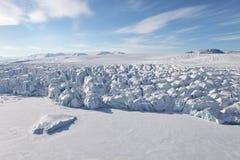 Vogelperspektive Severnaya Zemlya (Nordland) Lizenzfreies Stockfoto