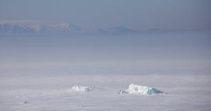 Vogelperspektive Severnaya Zemlya (Nordland) Lizenzfreie Stockfotografie