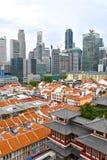 Vogelperspektive 2018 Singapurs Chinatown Stockfoto