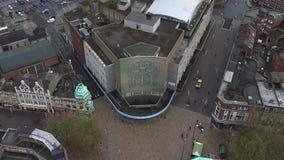 Vogelperspektive, städtische Stadtlandschaft, Kingston Upon Hull stock video footage