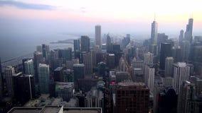 Vogelperspektive-Stadt von Chicago - Stadt von Chicago stock video