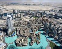 Vogelperspektive vertreten vom Burj Khalifa Stockbilder