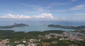 Vogelperspektive vom Affe-Hügel in Phuket Lizenzfreie Stockbilder