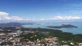 Vogelperspektive vom Affe-Hügel in Phuket Lizenzfreie Stockfotografie