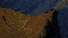 Vogelperspektive vom dron des Bergs Fitz Roy, Nationalpark Los Glaciares, Patagonia, Argentinien stock video footage