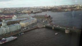 Vogelperspektive vom Hubschrauber von St Petersburg stock video