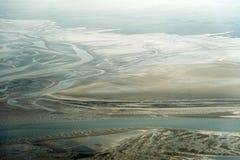 Vogelperspektive vom Schleswig-Holstein Wattenmeer-Nationalpark Stockbild