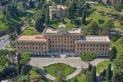 Vogelperspektive vom Vatikan, Haus von Papst lizenzfreie stockfotografie