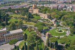 Vogelperspektive vom Vatikan, Haus von Papst lizenzfreie stockfotos