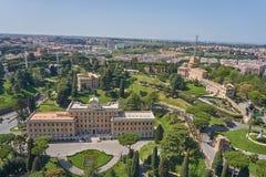 Vogelperspektive vom Vatikan, Haus von Papst lizenzfreie stockbilder