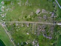 Vogelperspektive von Adamclisi-Festung in Dobrogea Rumänien Stockfotografie