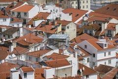 Vogelperspektive von Alfama-Bezirk in Lissabon Stockbilder