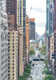 Vogelperspektive von Allee New York Manhattan, New York City Stockbilder