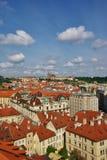 Vogelperspektive von altem Prag Lizenzfreie Stockbilder
