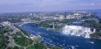 Vogelperspektive von amerikanischen Fällen Niagara NY lizenzfreies stockfoto