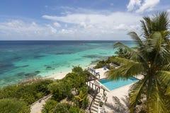 Vogelperspektive von Anguilla-Stränden Stockfoto