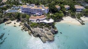 Vogelperspektive von Anguilla-Strand Lizenzfreie Stockfotos