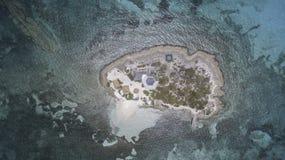 Vogelperspektive von Anguilla-Strand Stockbild