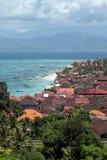 Vogelperspektive von Bali lizenzfreies stockbild