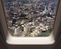 Vogelperspektive von Bangkok-Stadt lizenzfreie stockfotos