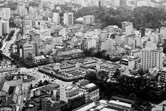 Vogelperspektive von Ben Thanh-Markt in Saigon stockfotografie