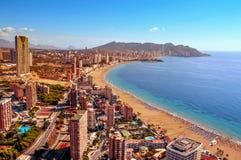 Vogelperspektive von Benidorm, Spanien lizenzfreies stockfoto