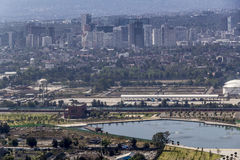 Vogelperspektive von Bereich Mexiko City Polanco Lizenzfreies Stockfoto